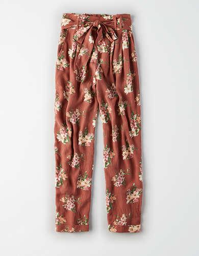 AE High-Waisted Tie Front Tapered Pant