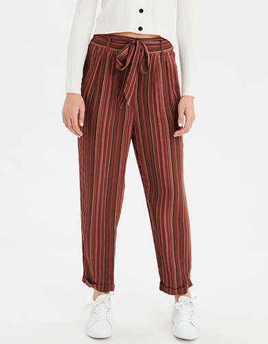 AE High-Waisted Belted Tapered Leg Pant