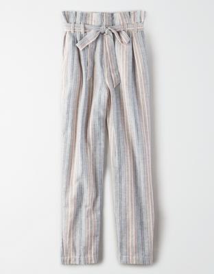 AE Striped Paperbag Pant