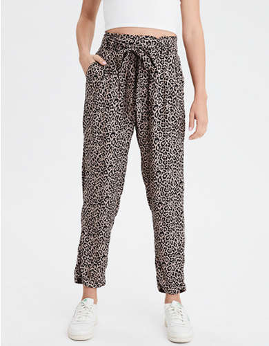 AE High-Waisted Leopard Print Tapered Pant