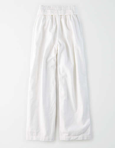 AE High-Waisted Paperbag Wide Leg Pant
