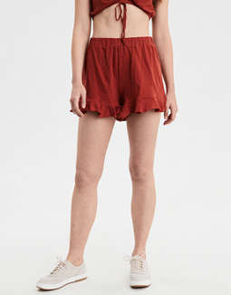 Ae High Waisted Knit Ruffle Short by American Eagle Outfitters