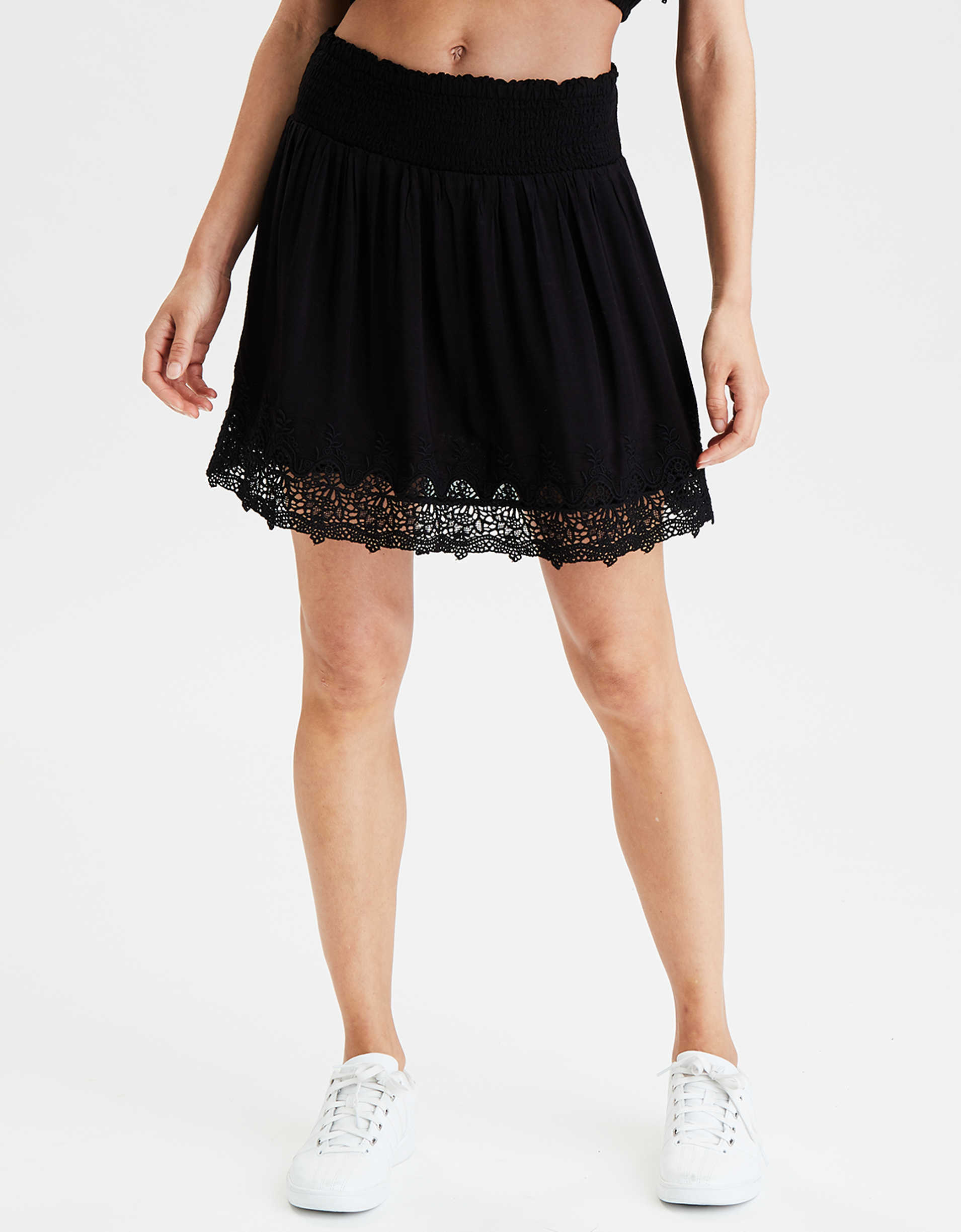 AE High-Waisted Lace Mini Skirt