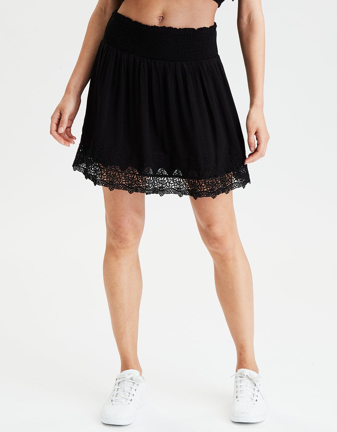 1844ed268 AE High-Waisted Tiered Mini Skirt