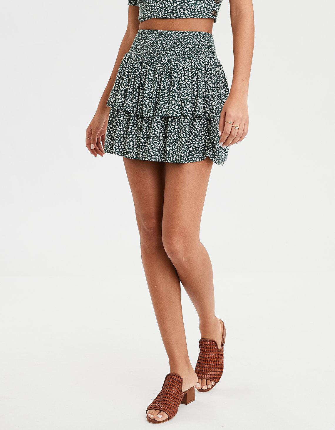 85b2de79c8104 AE High-Waisted Floral Mini Skirt