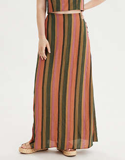 AE High-Waisted Striped Maxi Skirt