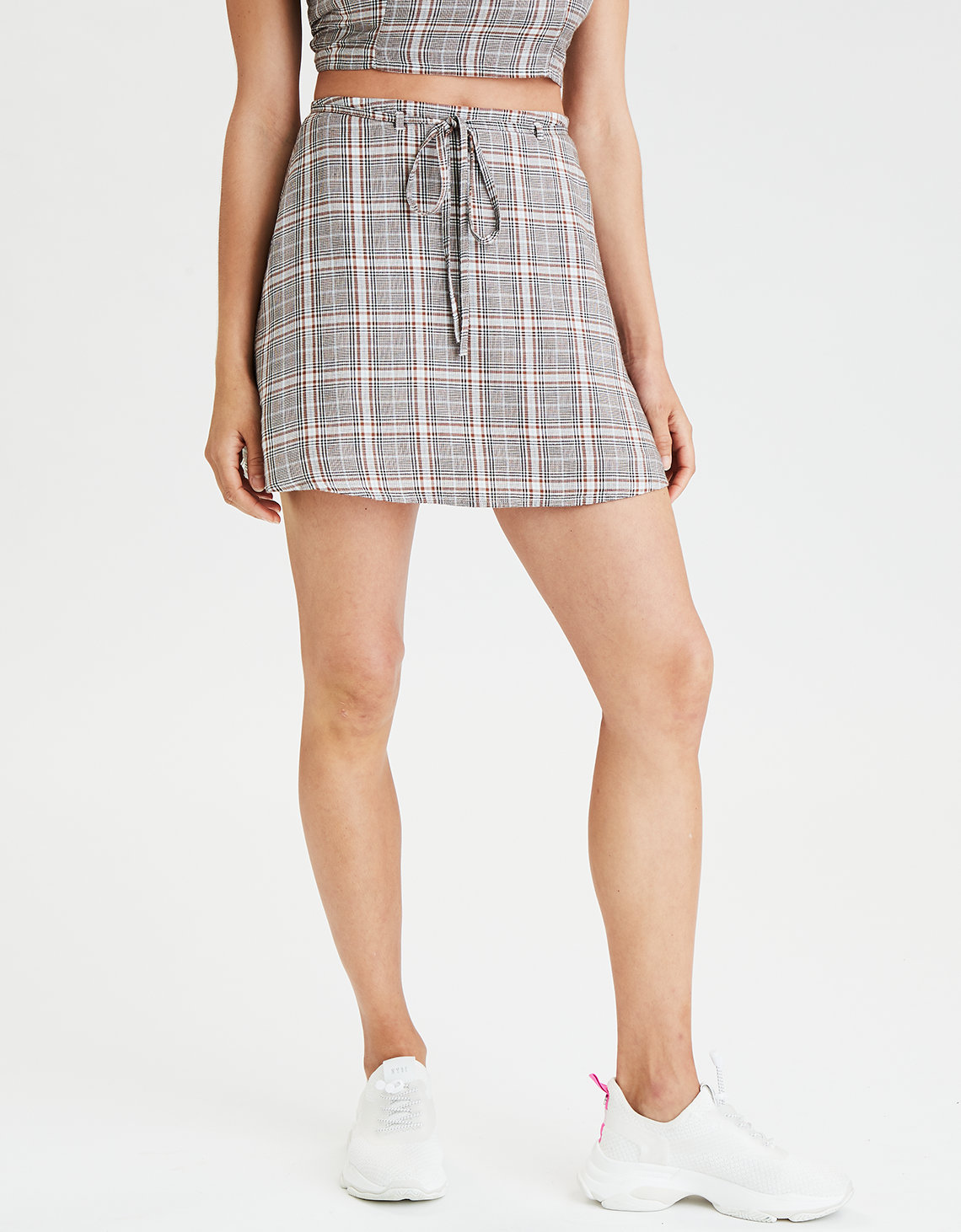 AE High-Waisted Plaid Skirt