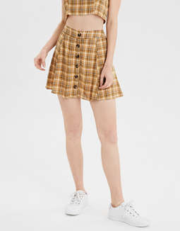 4d7c3568f placeholder image AE High-Waisted Plaid Mini Skirt ...