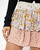 AE High-Waisted Printed Ruffled Mini Skirt