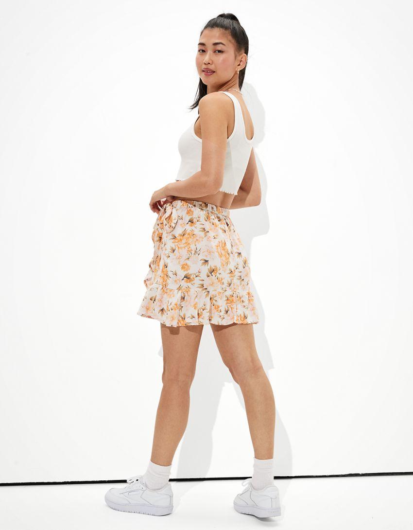 AE Ruffled Wrap Mini Skirt