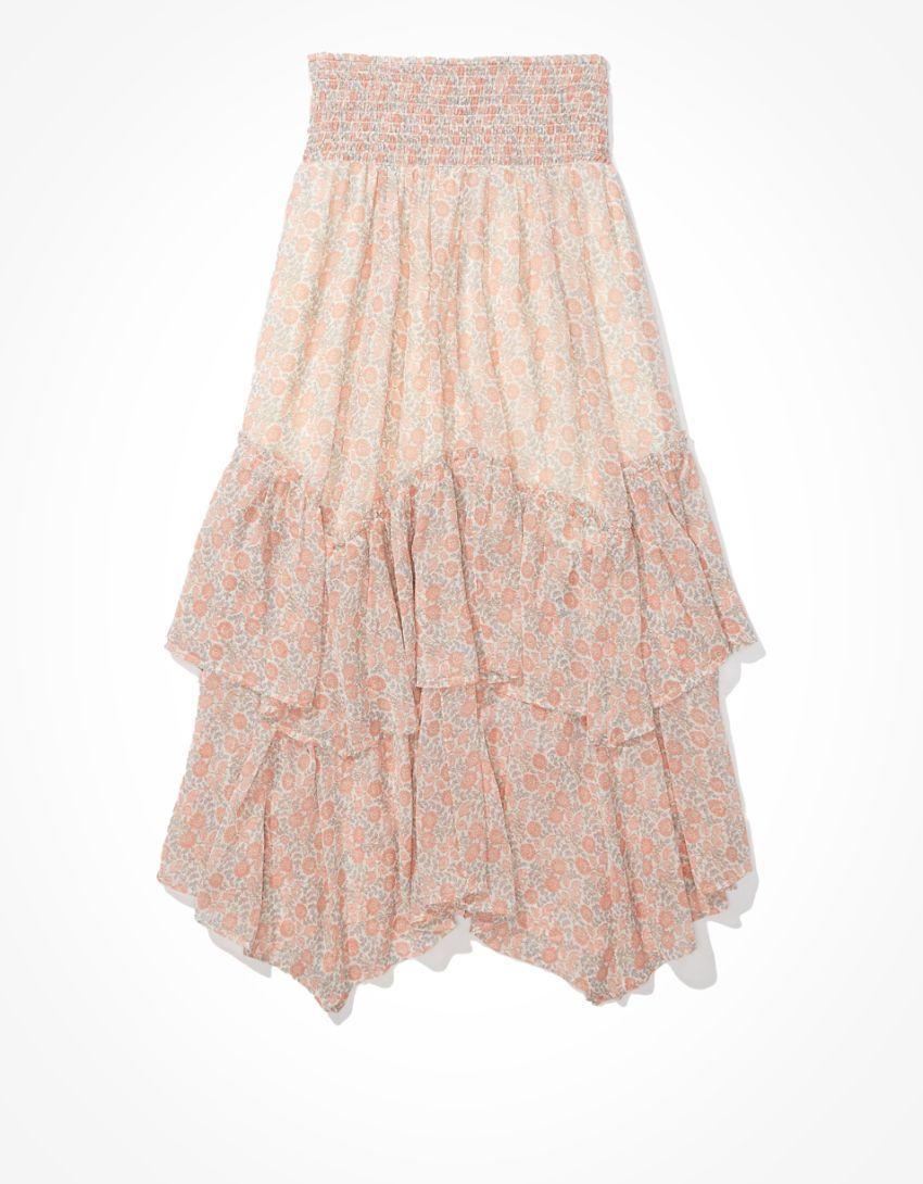AE Ruffled Midi Skirt
