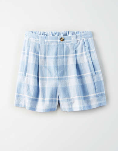 AE High-Waisted Plaid Short