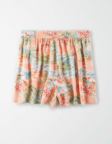 AE High-Waisted Smocked Short