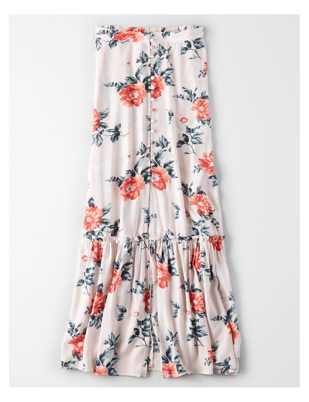 Display product reviews for AE Button Down Maxi Skirt
