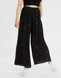 ae-smocked-floral-pant by american-eagle-outfitters