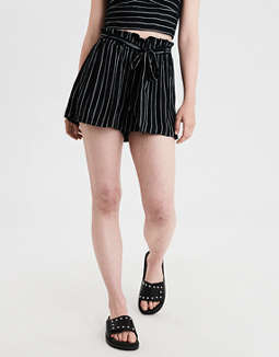 6b26990861 Shoptagr | Ae Paperbag Tie Shorts by American Eagle Outfitters