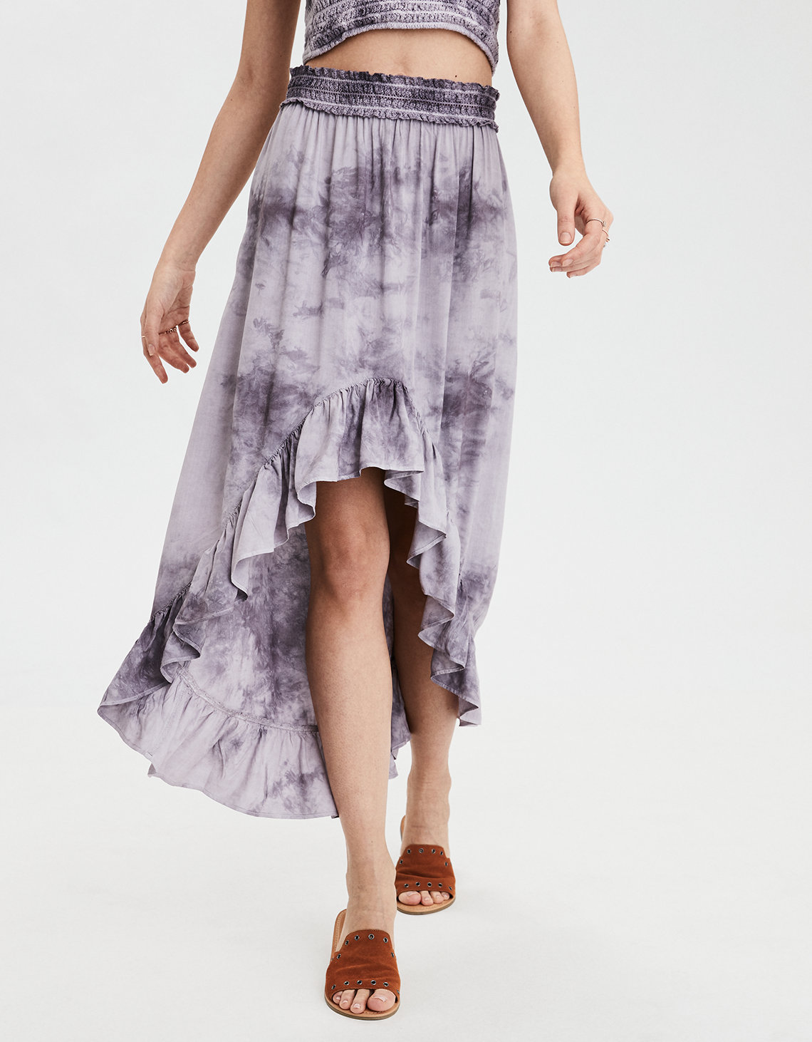 77b8a7dc24ad AE Tie-Dye Hi-Low Maxi Skirt. Placeholder image. Product Image