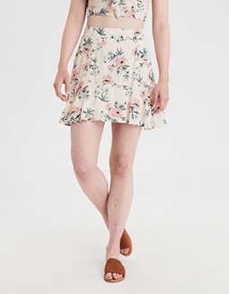 Ae Ruffle Bottom Mini Skirt by American Eagle Outfitters