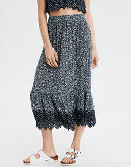 AE High-Waisted Lace Maxi Skirt