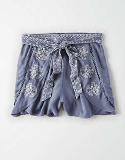 Ae High Waisted Embroidered Short by American Eagle Outfitters