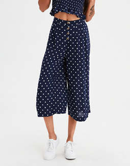 Ae Button Front Culotte Pants by American Eagle Outfitters