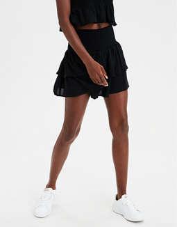 d6f1f8405 Shoptagr | Ae High Waisted Tiered Ruffle Mini Skirt by American ...