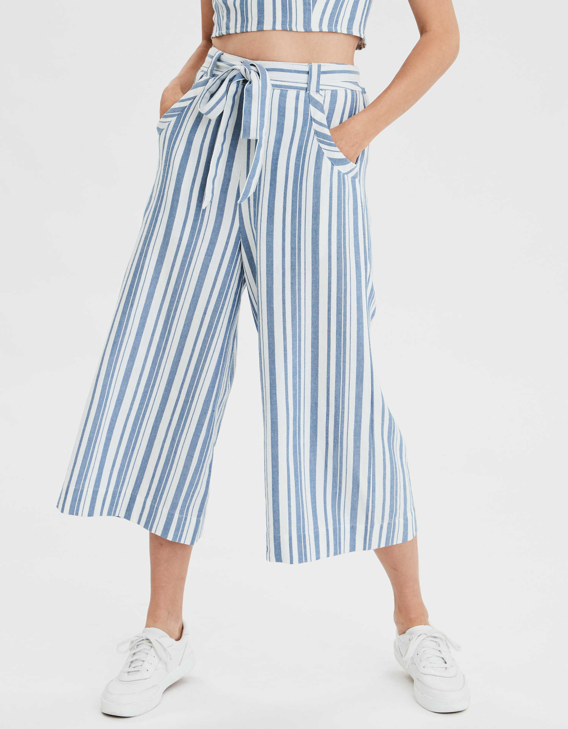 AE High-Waisted Striped Culotte