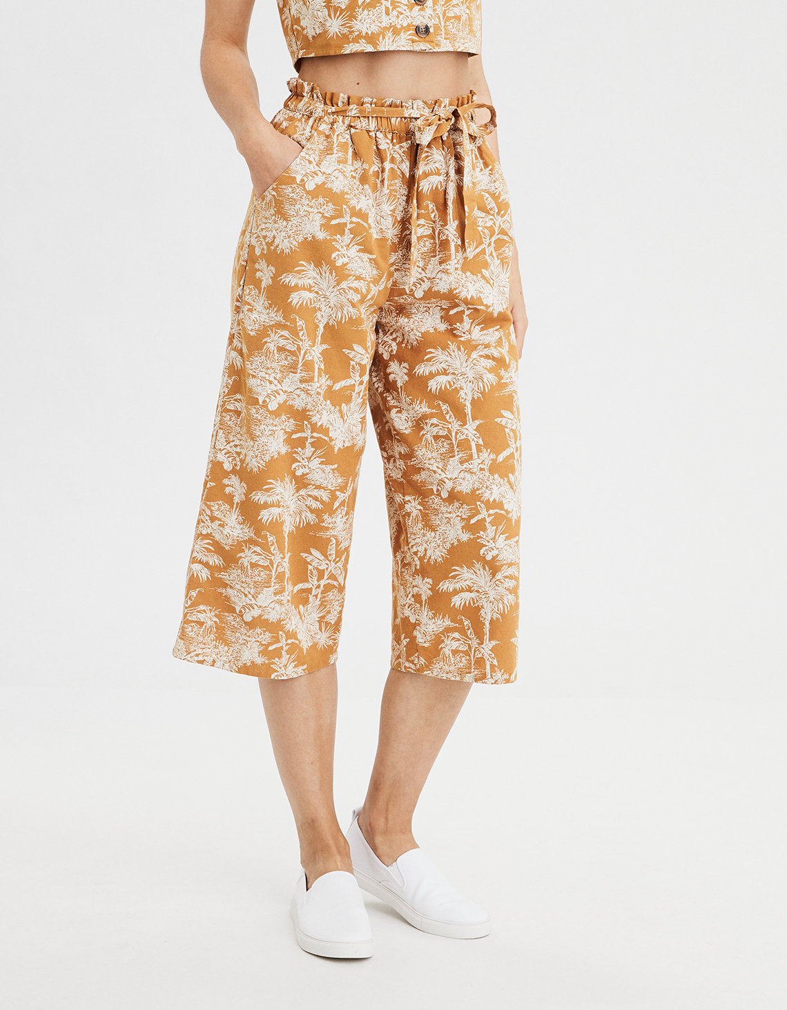 AE High-Waisted Paperbag Culotte