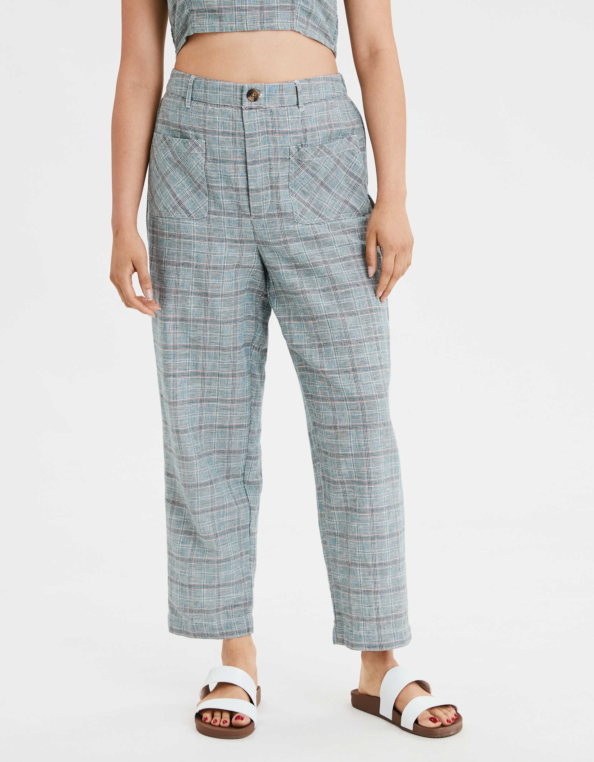 AE High-Waisted Plaid Pant