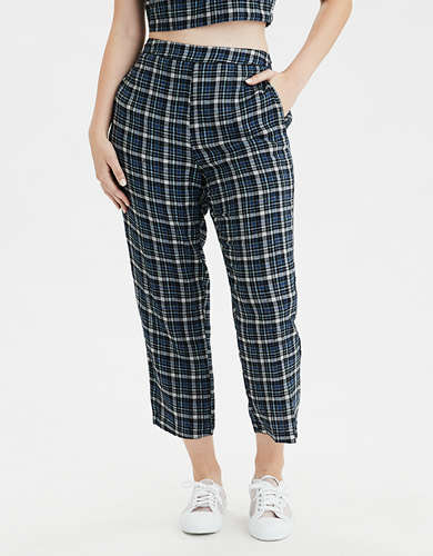 AE High-Waisted Plaid Taper Pant