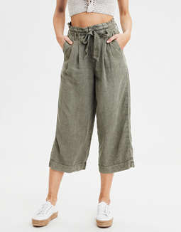 High-Waisted Paperbag Culotte