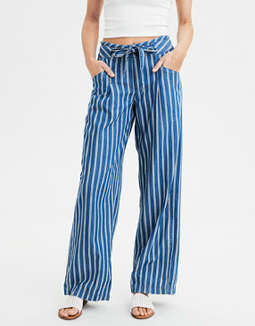 AE High-Waisted Striped Palazzo Pant