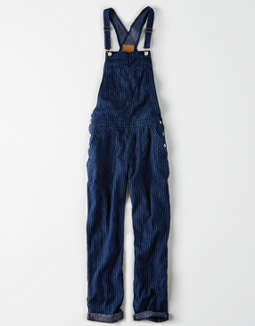 Ae Striped Soft Overall by American Eagle Outfitters