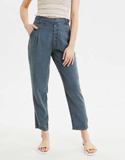 AE Super High-Waisted Pleated Tapered Pant