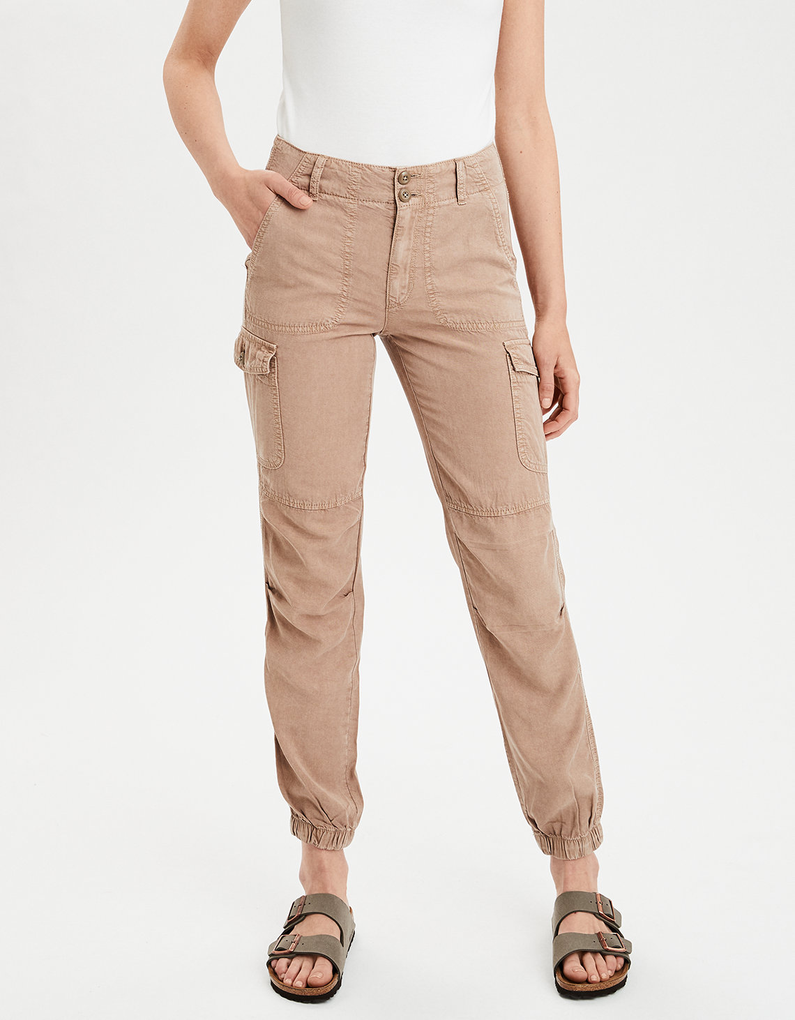 fashionable and attractive package details for beauty AE High-Waisted Cargo Jogger Pant