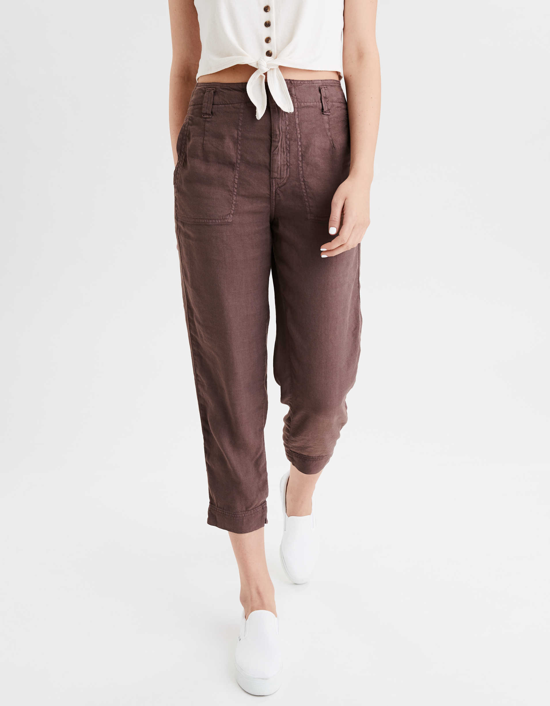 AE High-Waisted Utility Crop Tapered Pant