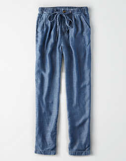 ae-high-waisted-chambray-tapered-pant by american-eagle-outfitters