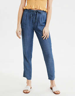 AE High-Waisted Chambray Tapered Pant