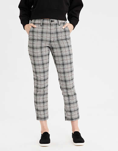 AE Super High-Waisted Plaid Skinny Pant