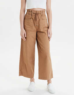 AE Super High-Waisted Wide Leg Crop Pant