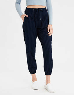 AE Highest Waist Striped Jogger Pant