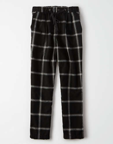 AE High-Waisted Plaid Tapered Pant