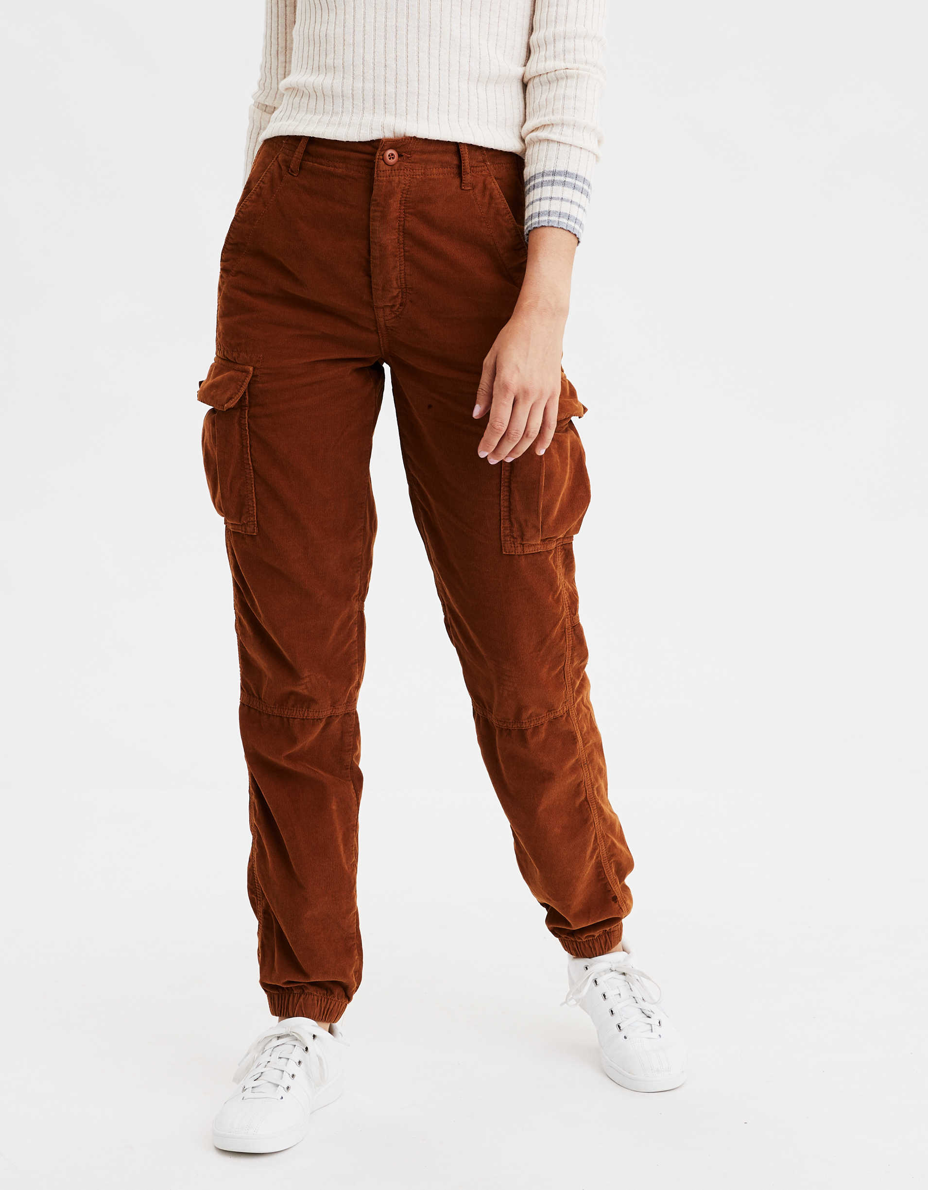 AE Super High-Waisted Corduroy Cargo Jogger Pant