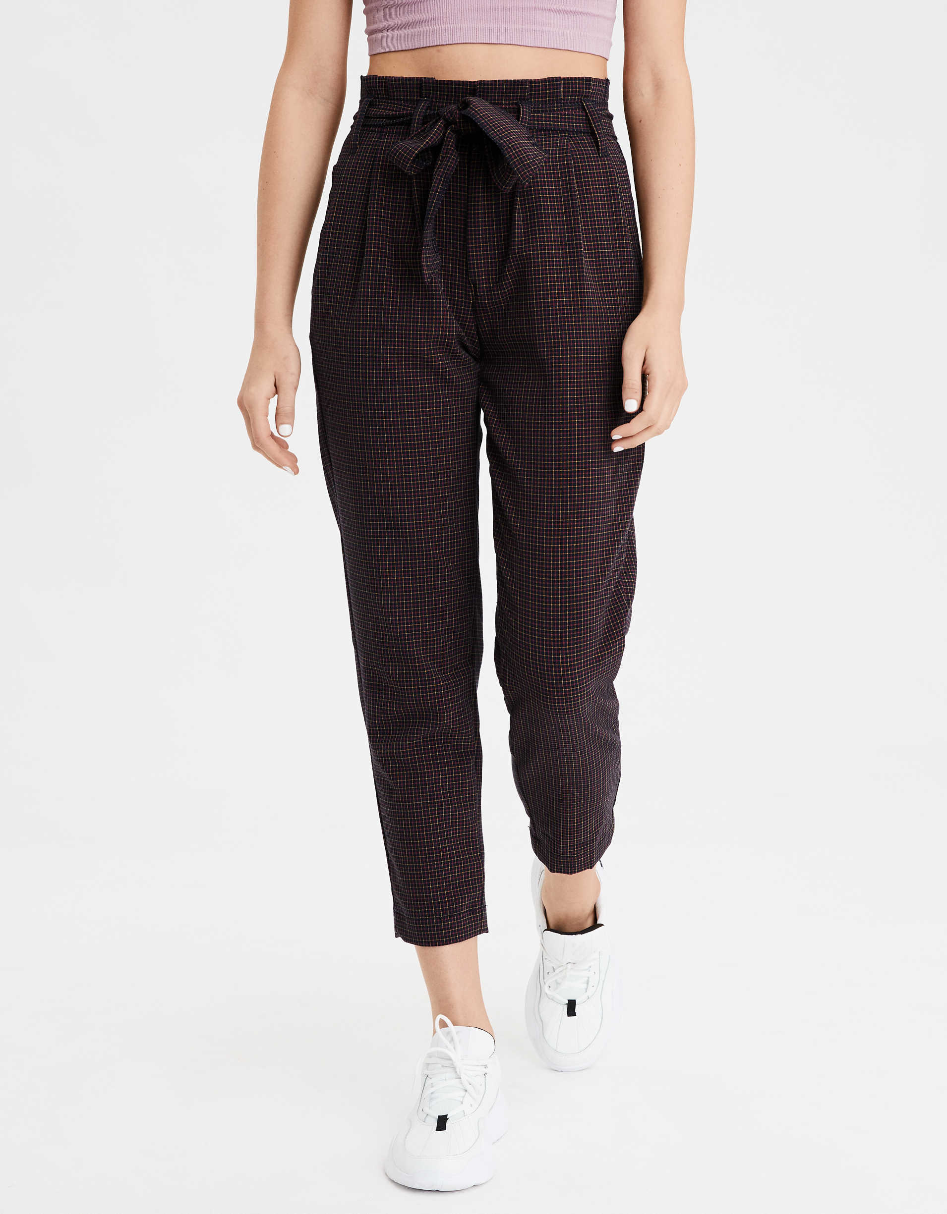 AE Highest Waist Paperbag Tapered Pant