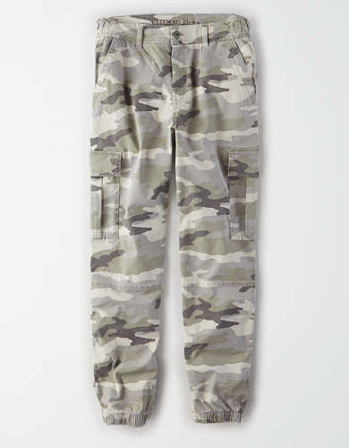 AE Super High-Waisted Cargo Camo Jogger Pant