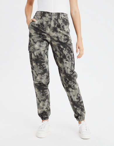 AE Super High-Waisted Camo Cargo Jogger Pant