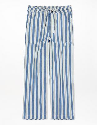 AE Укороченные брюки с супервысокой талией и широким нижним краем штанин