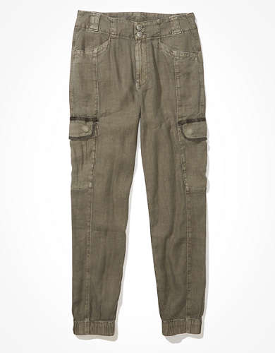 AE Linen Relaxed Mom Jogger Pant