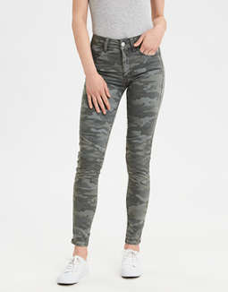 Ae Sateen X High Waisted Jegging Crop by American Eagle Outfitters