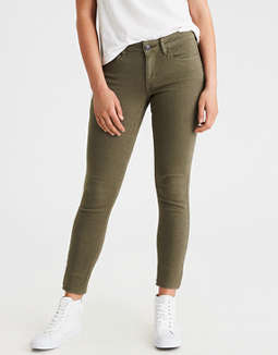 AEO Denim X Jegging, Leaf Green | American Eagle Outfitters American Eagle Outfitters
